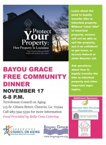November 17 Community Dinner